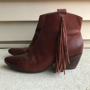 Matisse Shields Leather Fringe Ankle Boot